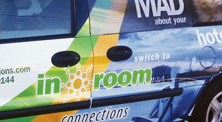 InRoom Connections Vehicle Wrap